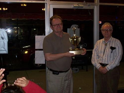 Joseph Alford displays his trophy