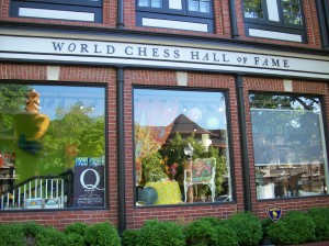 Across the way is the Chess Hall of Fame and Museum.  Go see the chess piece exhibit before it is gone in September!