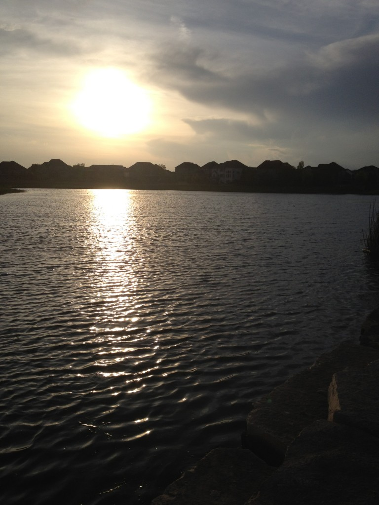 A beautiful evening for some fishing - to get fish is a bonus!